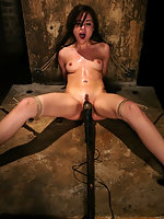 19 year old Sasha Grey is captured bound and forced to CUM