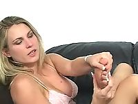 breasty blonde slut does intense foot foreplay