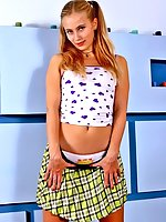 18 years old Margo showing you her white teen panties