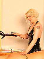 Moxxie is taught proper submission by an unforgiving mistress Rose