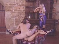 Two beauty latex sluts in wild orgy