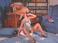 Pretty lesbians make love in office