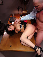 BDSM storyline of girl caught masturbating in office blackmailed