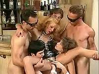 Sluts fistfucked in wild latex orgy