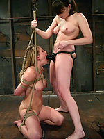 Harmony Rose gets tied up and fucked with electricity