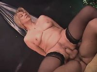 Mature sucking and jumping on cock