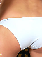 Sweet teen in white panty