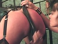 Gagged while she is in hardcore bondage
