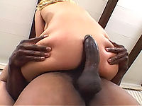 White bitch gets ridden hard and splattered with black man juice