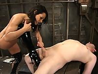 Sandra Romain tears into Her sub with a little puppy training