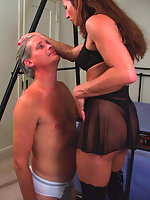 Kym makes Will strip feminizes him and whips him