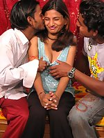 Indian babe and her 2 boys