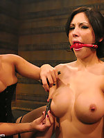 Gorgeous Mindy Main gets introduced to SM and bondage.
