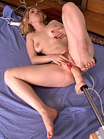 Cowgirl is back for more fuckingmachine action.
