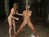 Masked suspension scene with electro.
