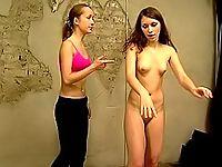 Imperious trainer whips a sexy young girlie