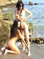Indian lesbian babes outdoors