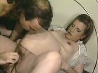 Big round beauty with hairy twat gets dildo satisfaction from horny lover
