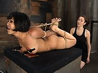 Dragonlily is pushed to her limits with intense tit torture