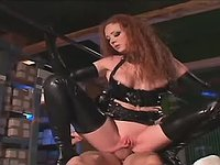 Latex ladies gets anal penetration