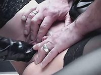 Awesome gangbang with deep fisting