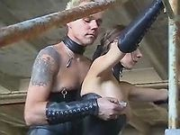Latex dude spanking stupid vixen