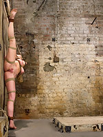Hot blond tied up forced to cum and fucked by an evil bitch.