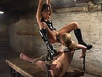Sexy blonde is tortured with the cattle prod by Sandra Romain
