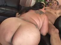 Fat mature sucks cock of older man