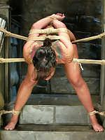Sexy asian beauty is shackled, tied up, fucked and dunked