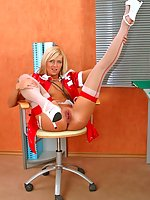 Nurse Camelia takes panties off