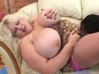 Busty fat milf licked by black guy