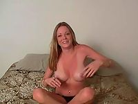 Big tited blonde bitch is going to enlarge her home porn collection with one more vid set.