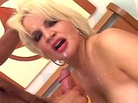 Gorgeous milf gets facial explosion