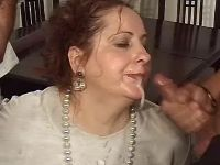 Plump granny fucked and gets cum