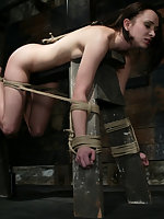 Maya Matthew bound forced to cum and severely caned.