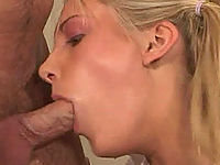 Strict teacher makes his sexy blonde student suck his dick and ass-fucks her in a classroom.