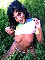 Mature indian strips outdoors