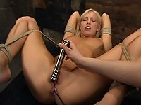 Cassie tied up tormented shocked and fucked.