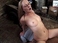 Cute redhead mommy screwed on floor