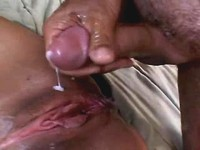 Mature gets creampie after hot fuck