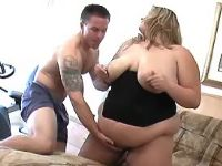 Huge chubby vixen seduces cute guy