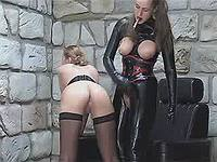 Latex madam spanking stuped slutty