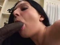 Sexy chic loves sucking on big black cock