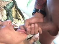 Depraved mature gets cum in mouth
