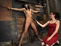 Hot german slut is tied up and double stuffed with electricity