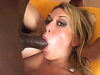 White bitch gets her ass and mouth banged by black cock