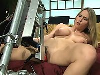 Harmony Rose gets tied up and fucked by huge machine dick.