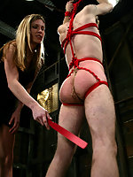 Harmony fuck punishes a clumsy mover his pain is her pleasure