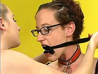 Tall redhead getting a severe punishment from Chanta